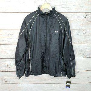 Vtg Deadstock Starter Track Jacket Black L